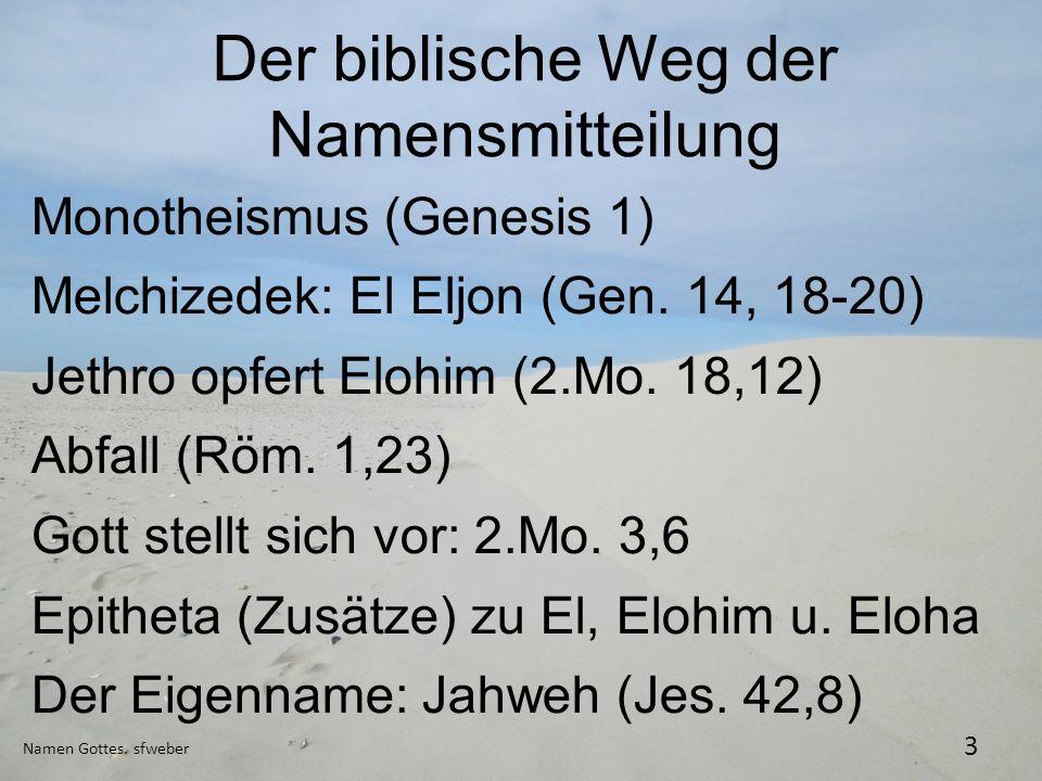 Der biblische Weg der Namensmitteilung