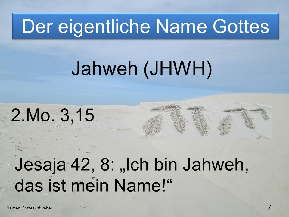 Der eigentliche Name Gottes