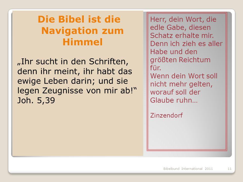 Die Bibel ist die Navigation zum Himmel