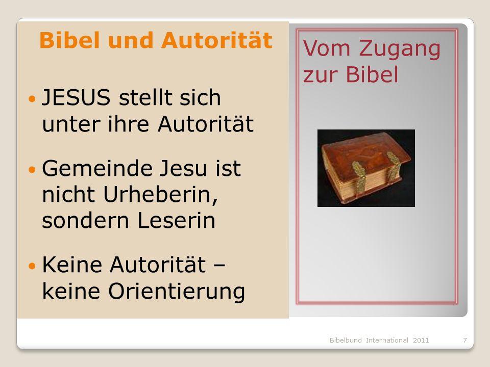 JESUS stellt sich unter ihre Autorität