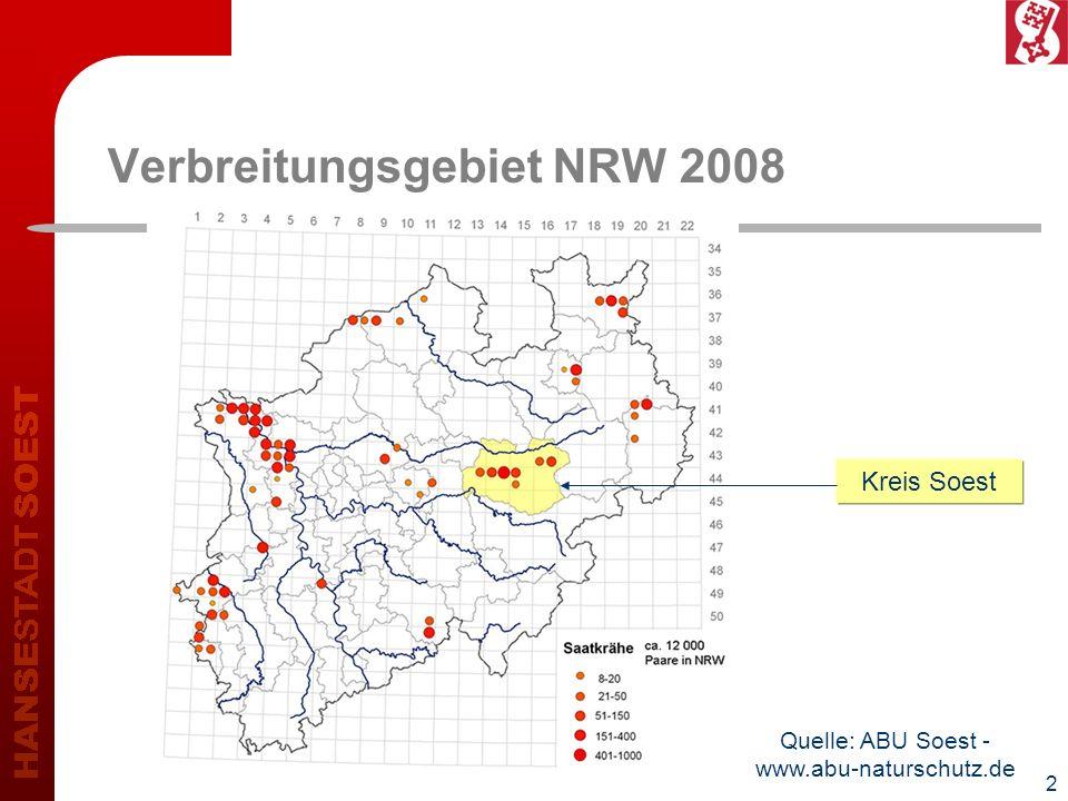 Verbreitungsgebiet NRW 2008