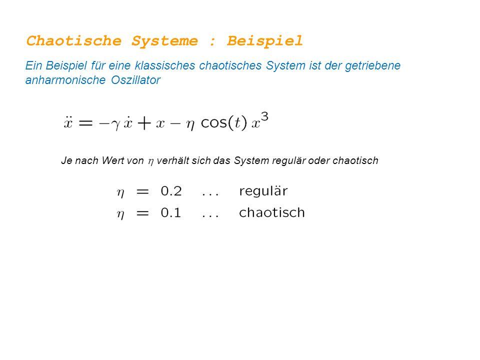 Chaotische Systeme : Beispiel