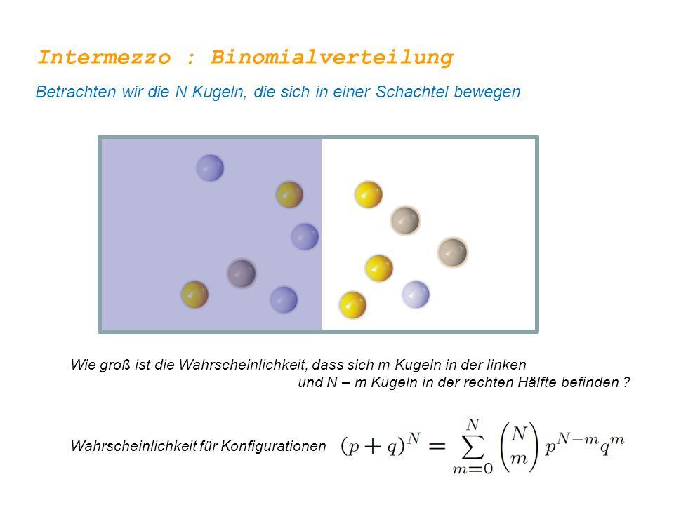 Intermezzo : Binomialverteilung