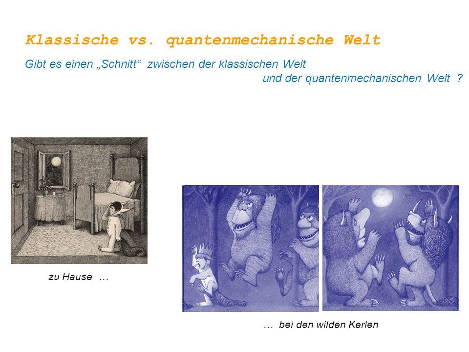 Klassische vs. quantenmechanische Welt