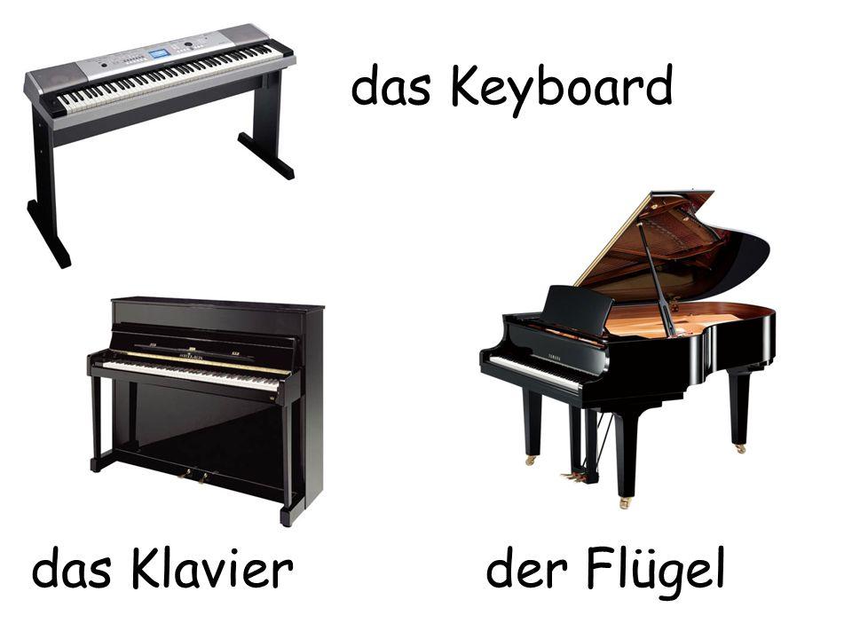 das Keyboard das Klavier der Flügel