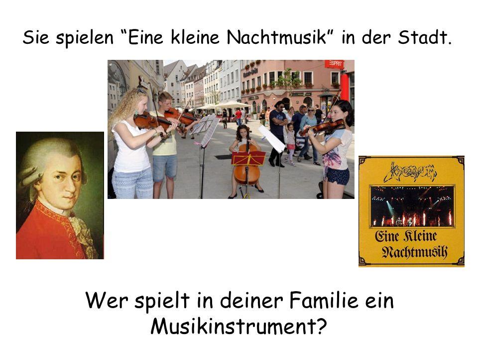 Wer spielt in deiner Familie ein Musikinstrument