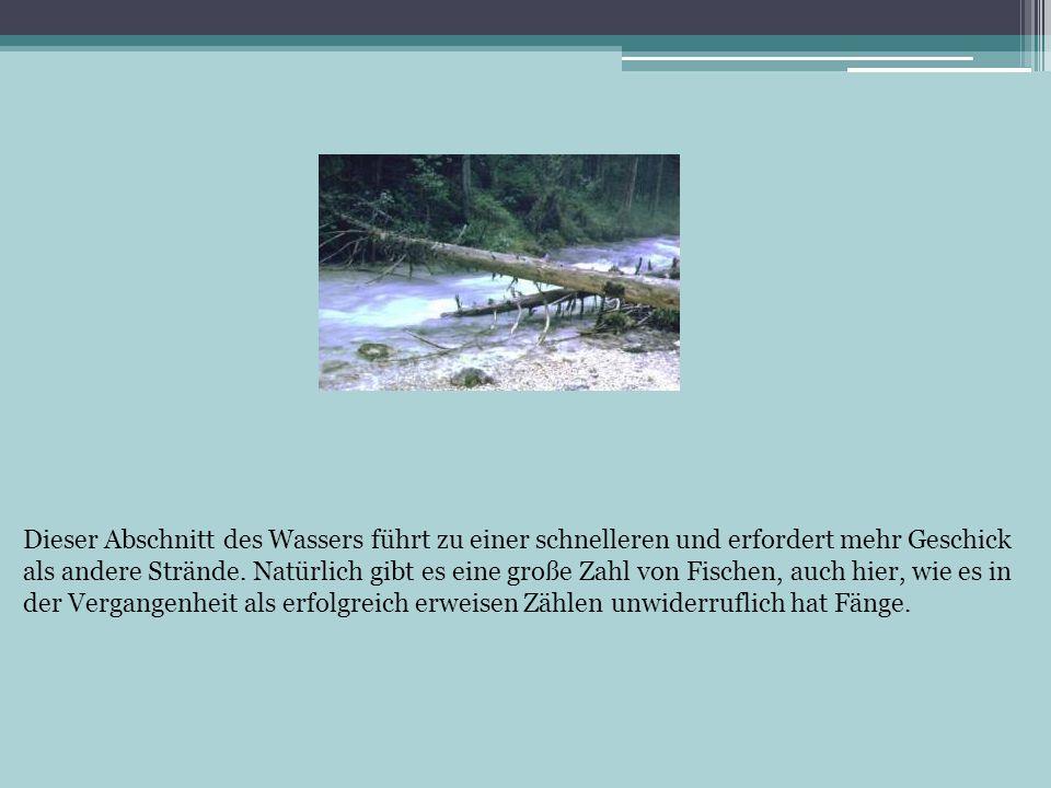 Dieser Abschnitt des Wassers führt zu einer schnelleren und erfordert mehr Geschick als andere Strände.