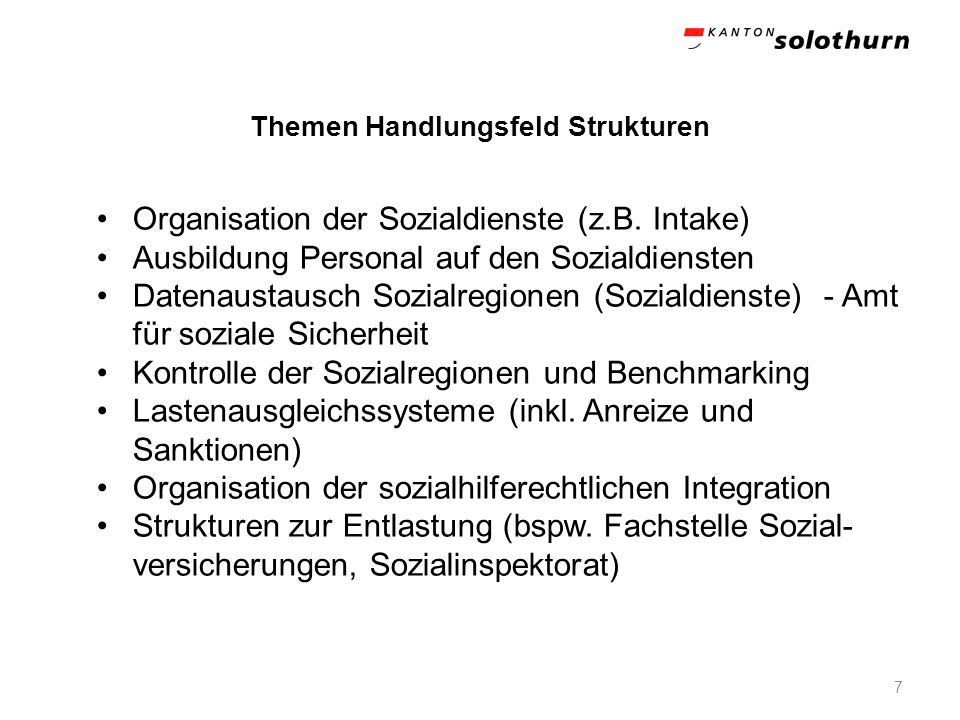 Themen Handlungsfeld Strukturen