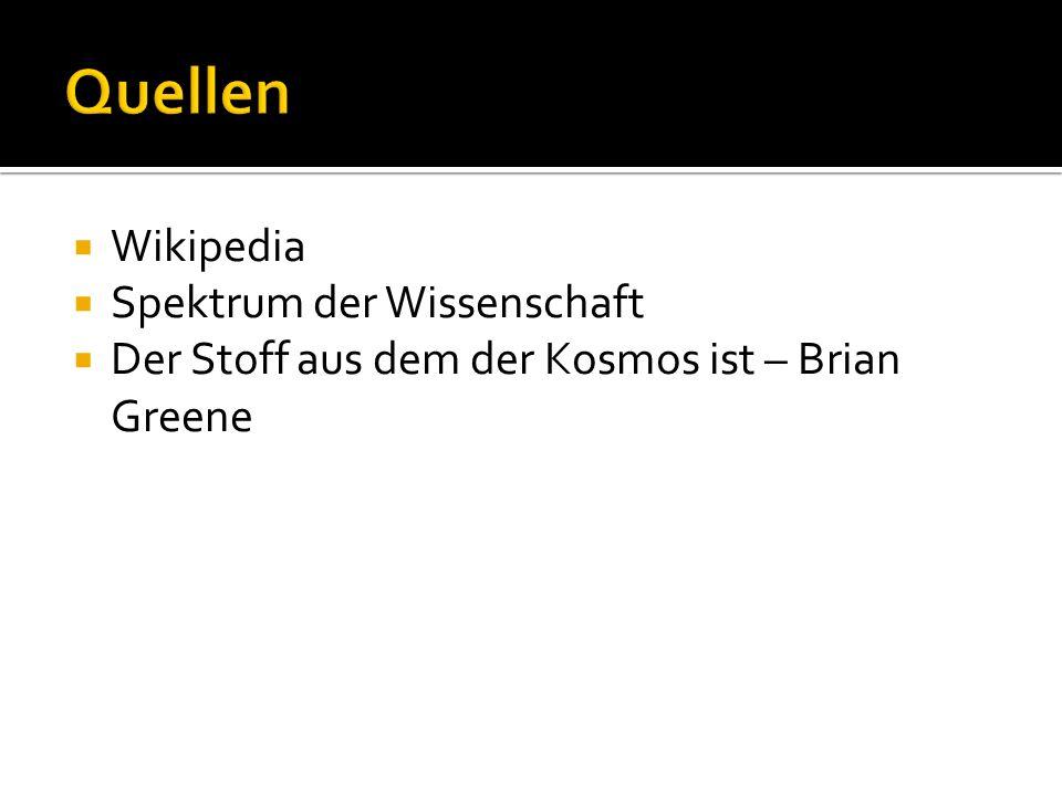 Quellen Wikipedia Spektrum der Wissenschaft
