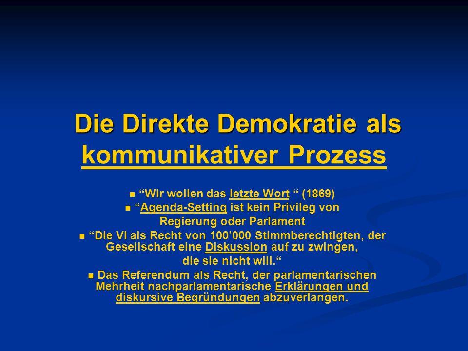Die Direkte Demokratie als kommunikativer Prozess