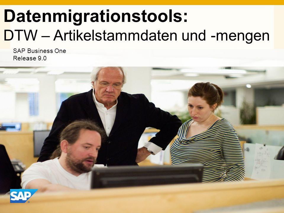 Datenmigrationstools: DTW – Artikelstammdaten und -mengen