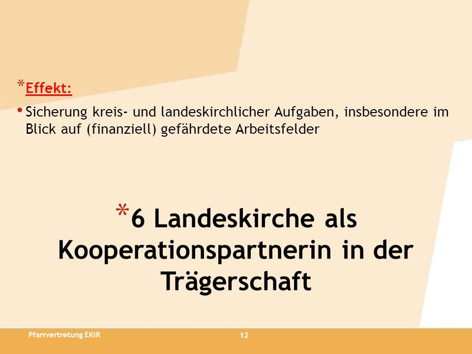 6 Landeskirche als Kooperationspartnerin in der Trägerschaft