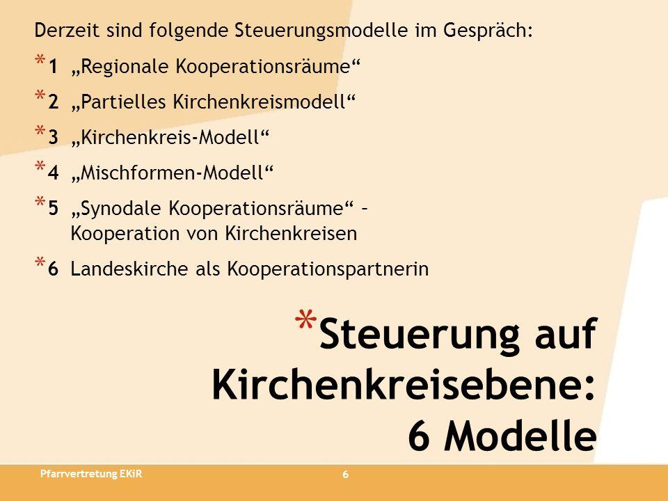 Steuerung auf Kirchenkreisebene: 6 Modelle