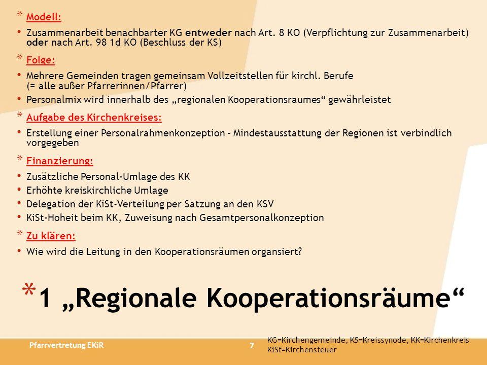 """1 """"Regionale Kooperationsräume"""
