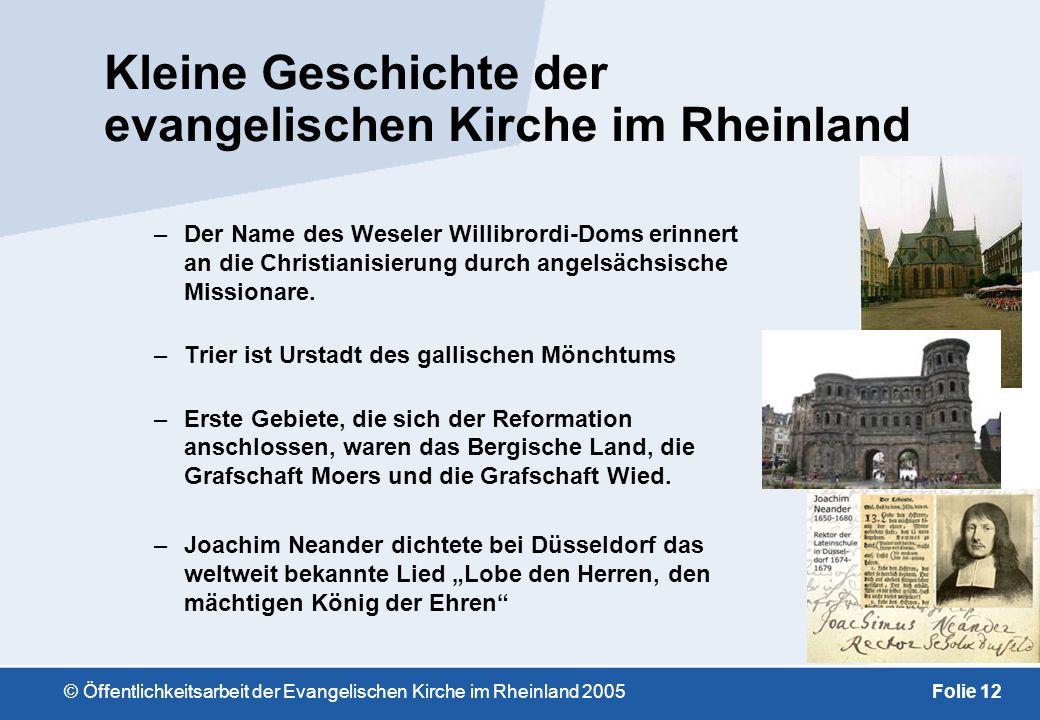 Kleine Geschichte der evangelischen Kirche im Rheinland