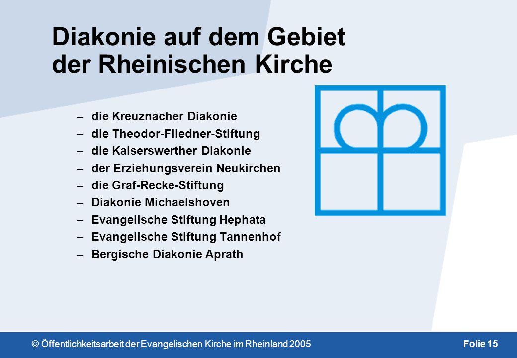 Diakonie auf dem Gebiet der Rheinischen Kirche
