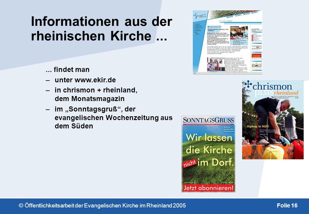 Informationen aus der rheinischen Kirche ...