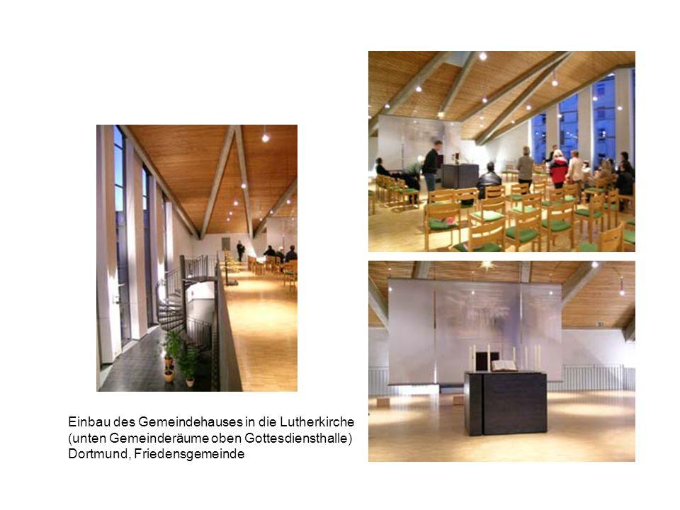 Einbau des Gemeindehauses in die Lutherkirche