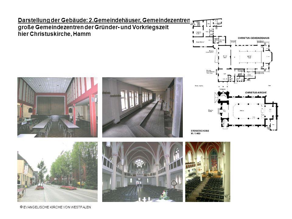 Darstellung der Gebäude: 2.Gemeindehäuser, Gemeindezentren