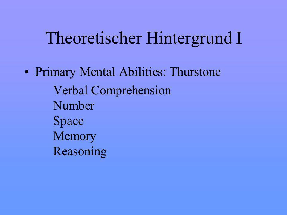 Theoretischer Hintergrund I