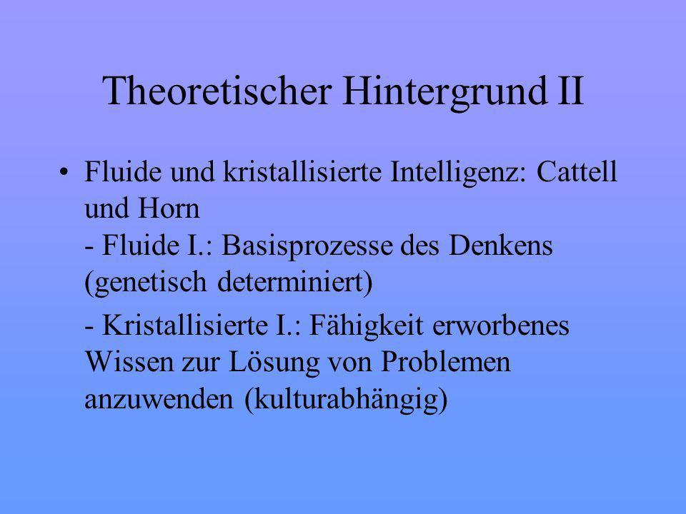 Theoretischer Hintergrund II