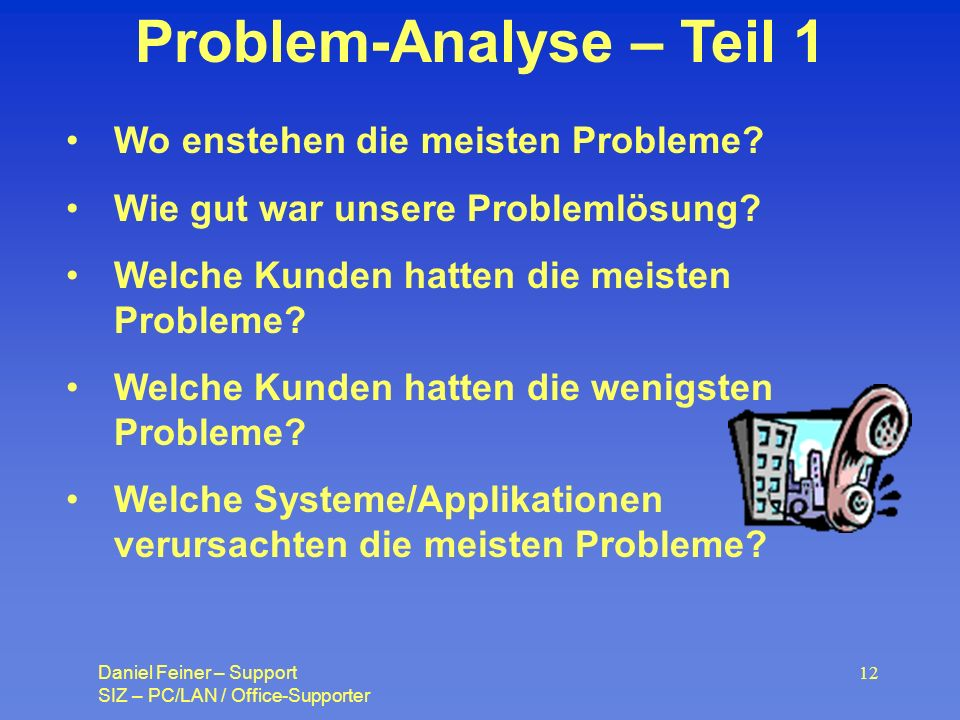Problem-Analyse – Teil 1