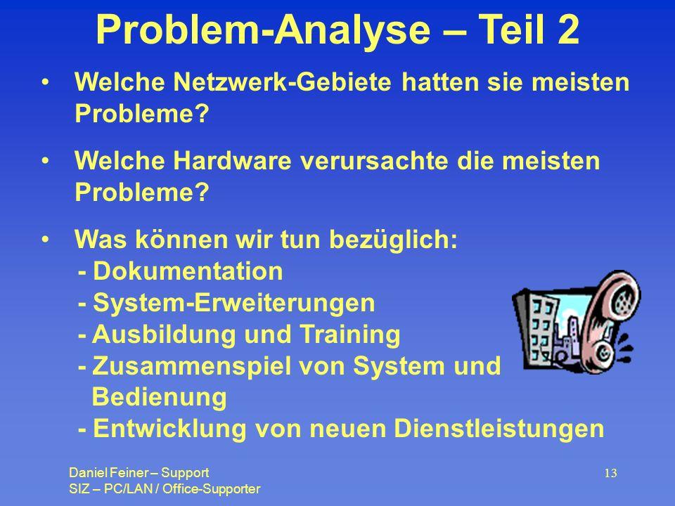 Problem-Analyse – Teil 2