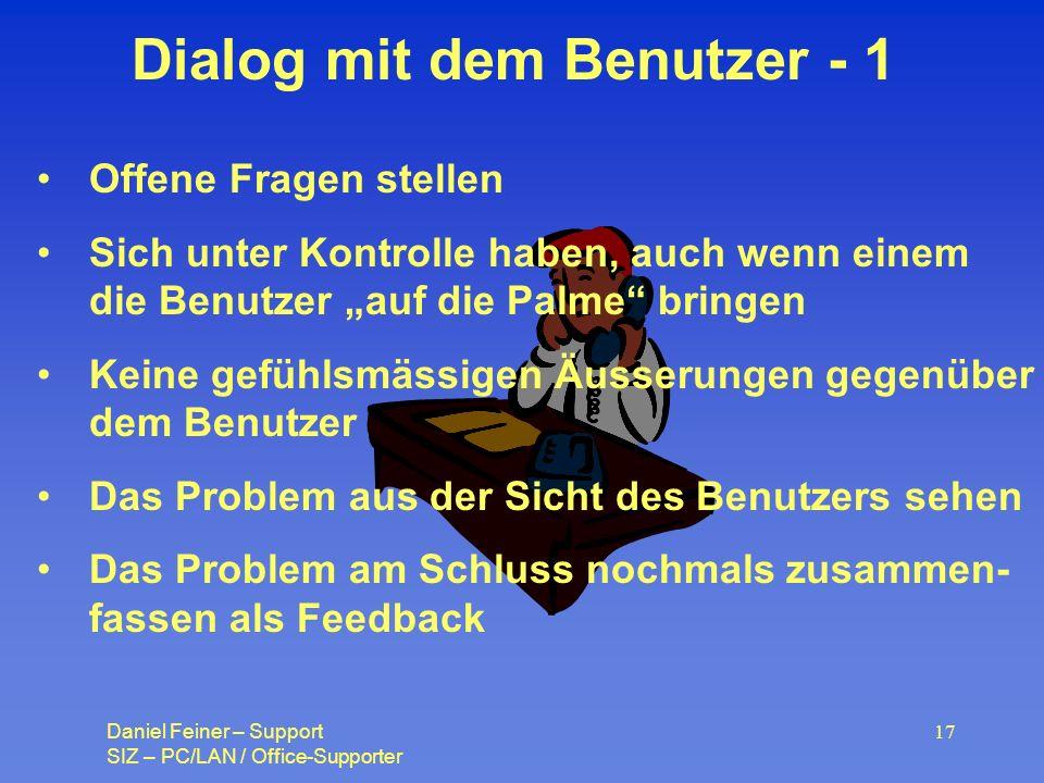 Dialog mit dem Benutzer - 1