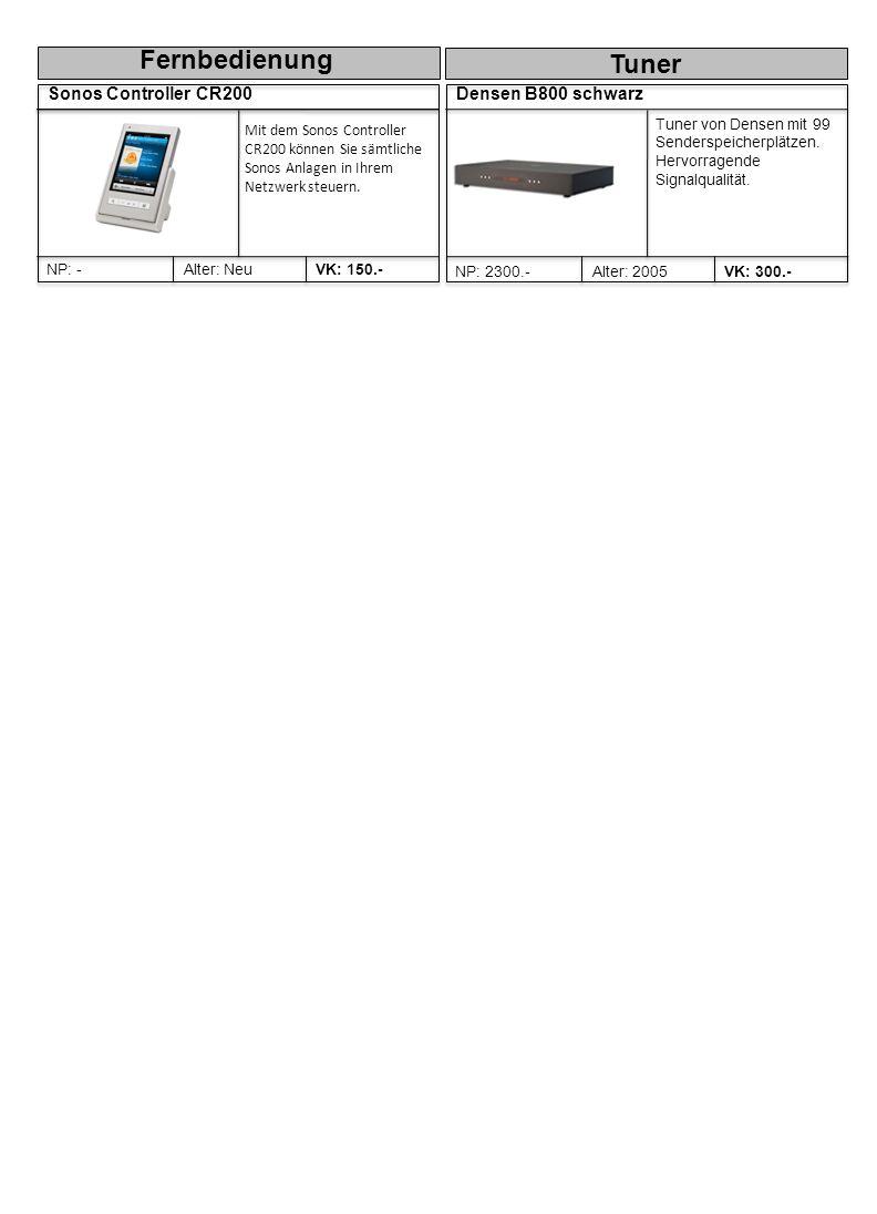 Fernbedienung Tuner Sonos Controller CR200 Densen B800 schwarz
