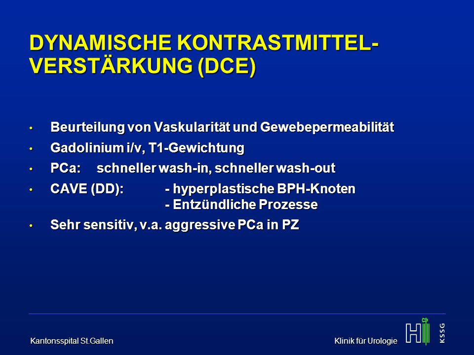 DYNAMISCHE KONTRASTMITTEL-VERSTÄRKUNG (DCE)