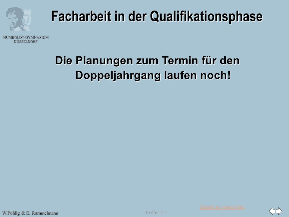 Facharbeit in der Qualifikationsphase