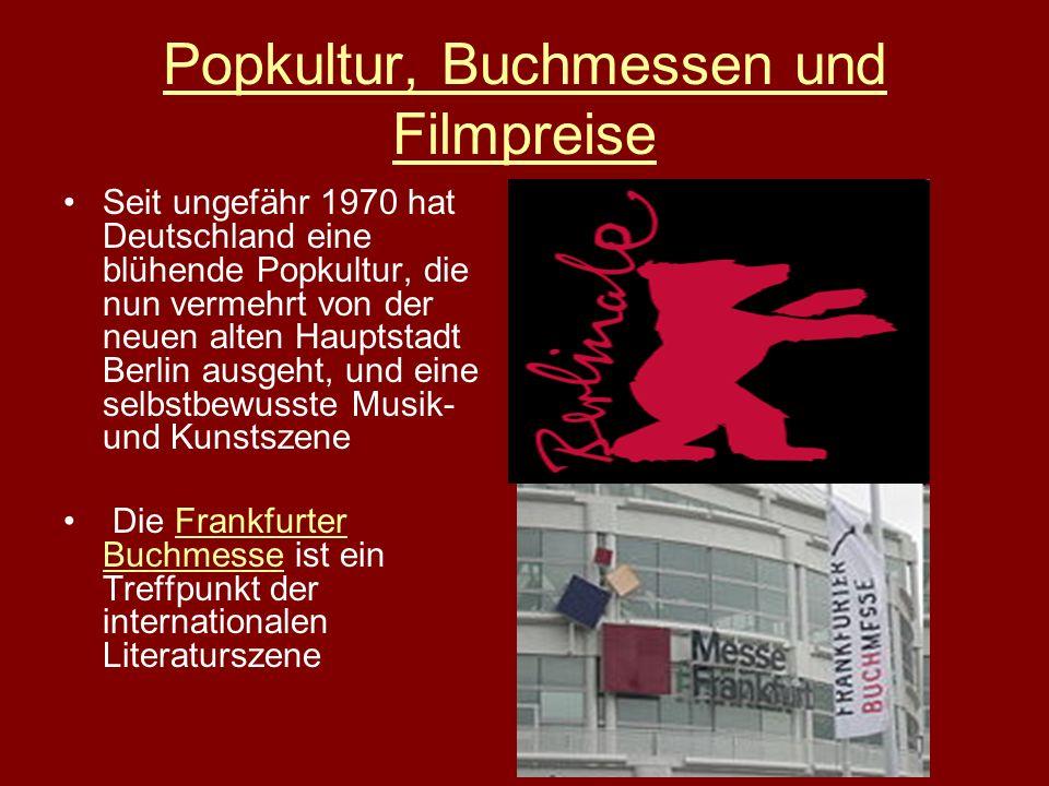 Popkultur, Buchmessen und Filmpreise