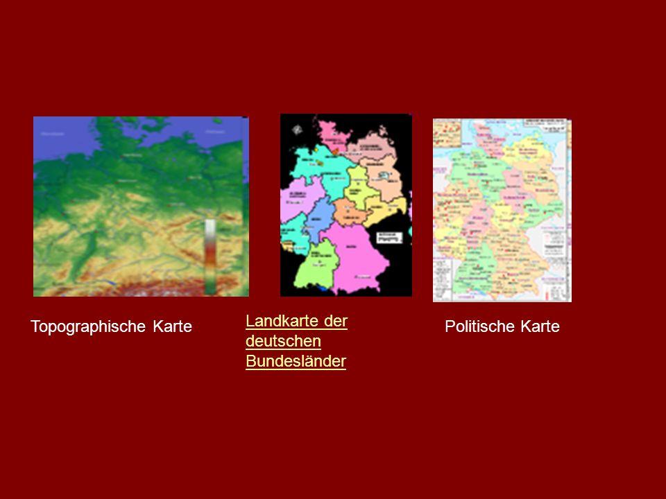 Landkarte der deutschen Bundesländer