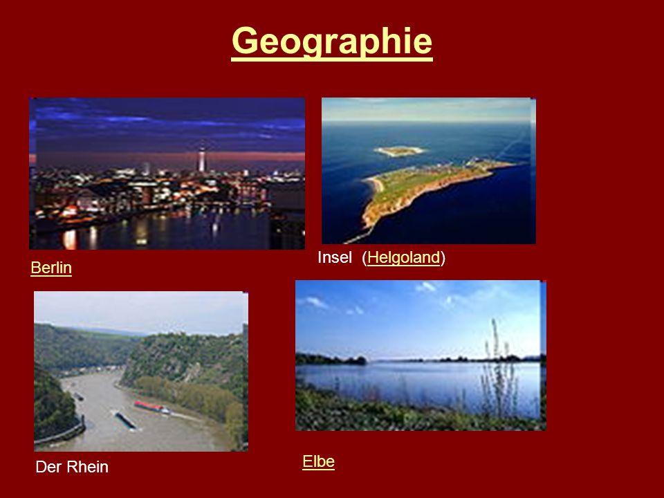 Geographie Insel (Helgoland) Berlin Elbe Der Rhein