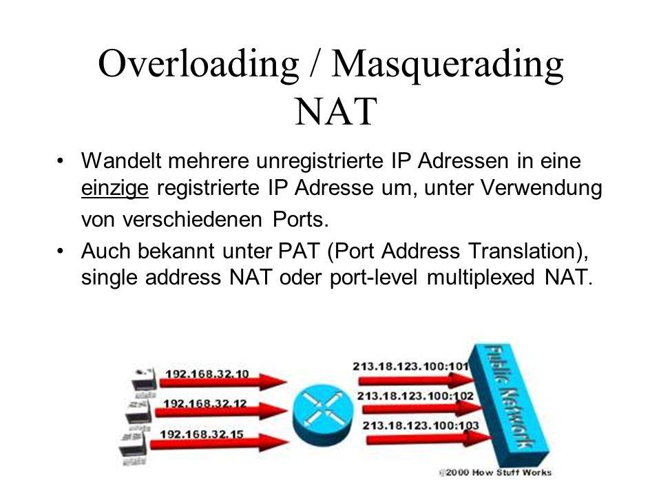 Overloading / Masquerading NAT