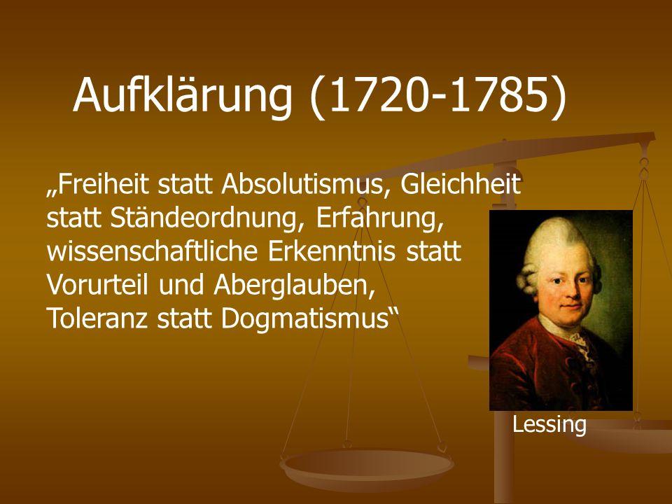 Aufklärung (1720-1785)