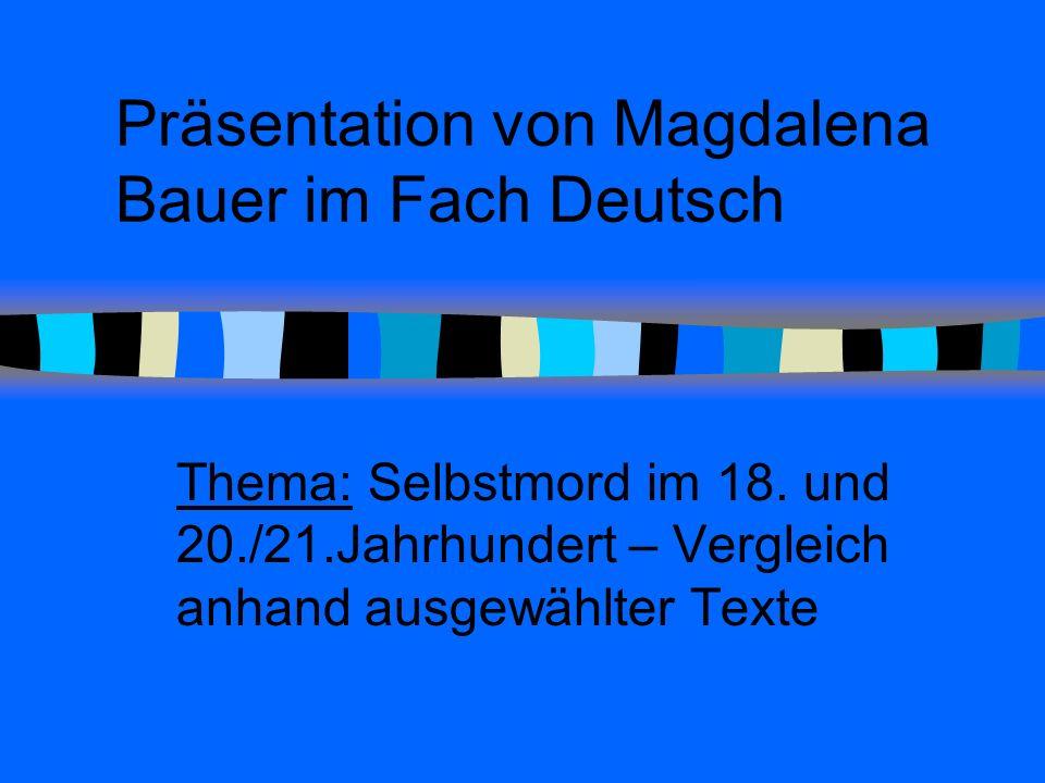Präsentation von Magdalena Bauer im Fach Deutsch