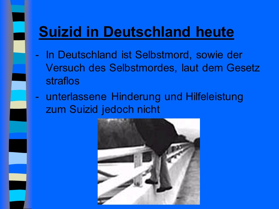 Suizid in Deutschland heute