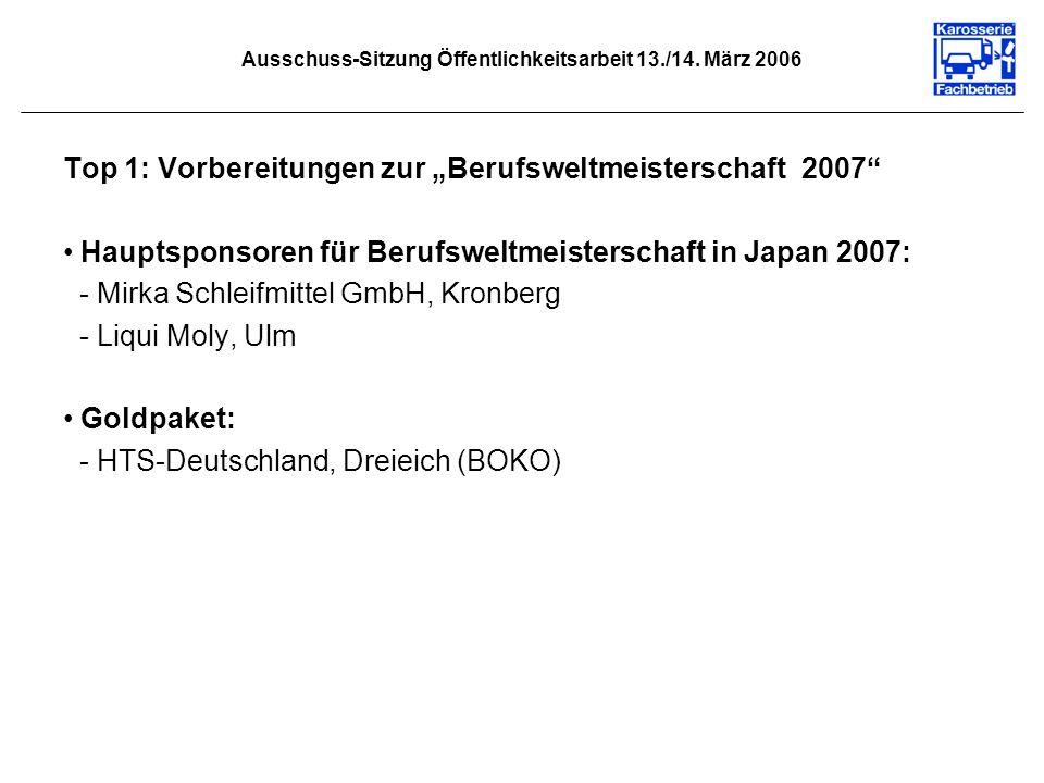 Ausschuss-Sitzung Öffentlichkeitsarbeit 13./14. März 2006