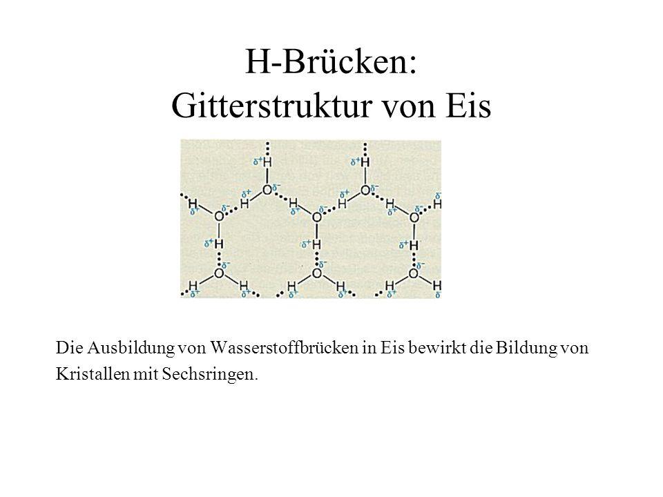 H-Brücken: Gitterstruktur von Eis