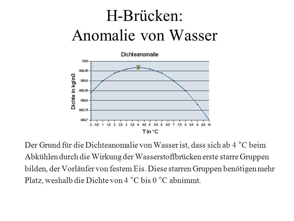 H-Brücken: Anomalie von Wasser