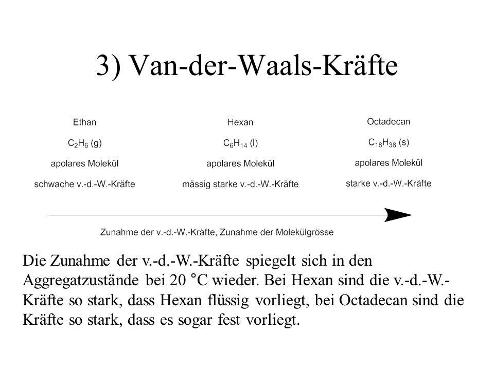 3) Van-der-Waals-Kräfte