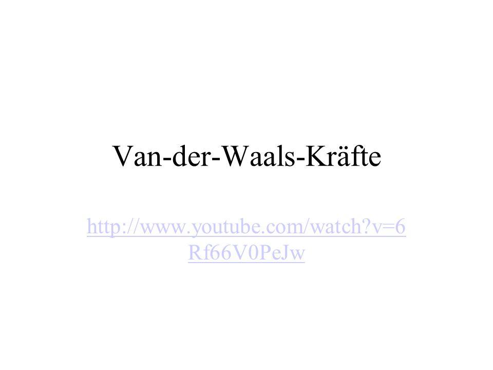 Van-der-Waals-Kräfte