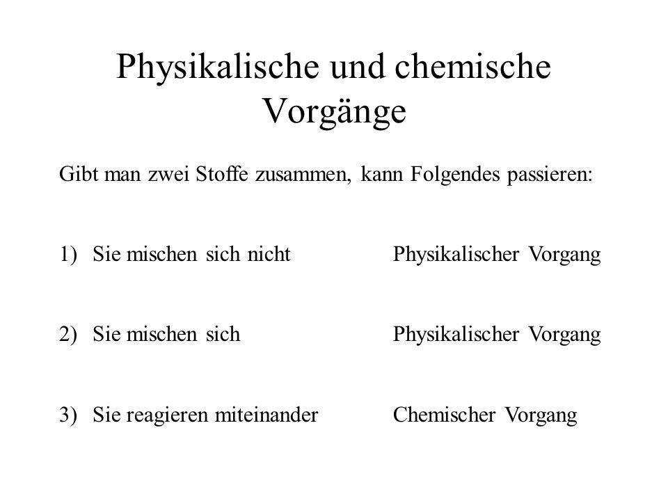 Physikalische und chemische Vorgänge