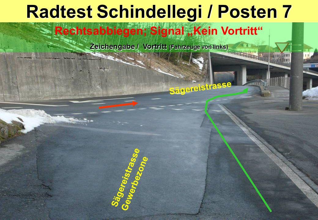 Radtest Schindellegi / Posten 7