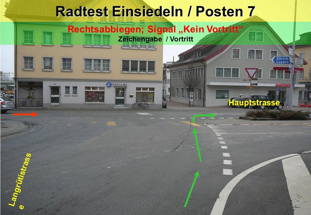 Radtest Einsiedeln / Posten 7