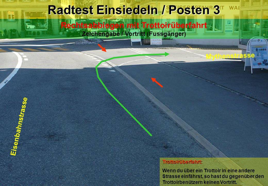 Radtest Einsiedeln / Posten 3