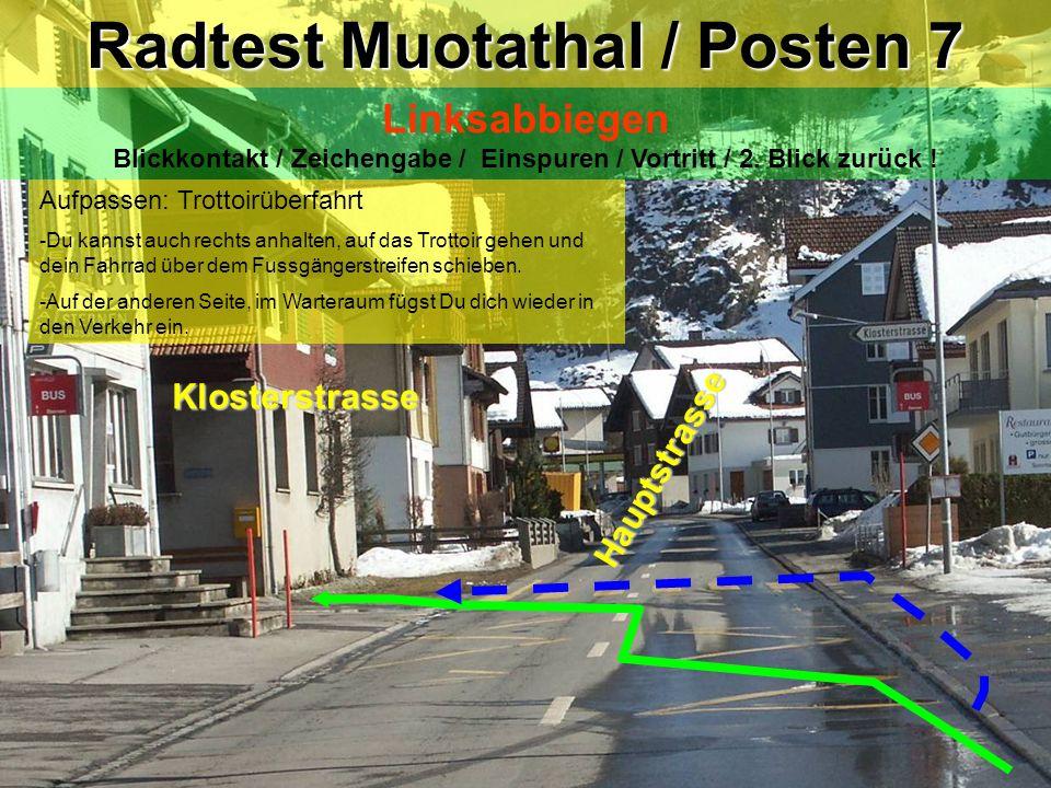 Radtest Muotathal / Posten 7