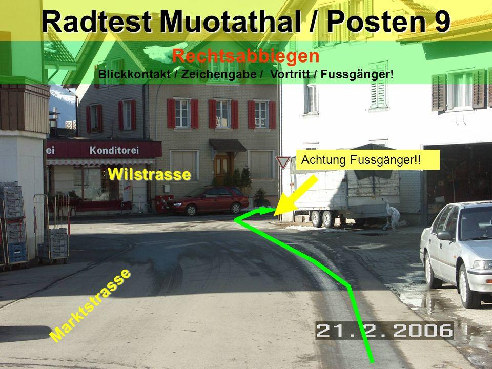 Radtest Muotathal / Posten 9