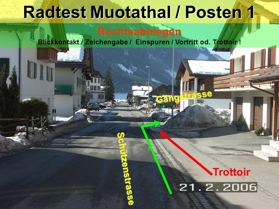 Radtest Muotathal / Posten 1